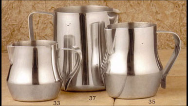 Frothing Pitchers for Cappuccino and specialty coffee drinks