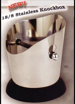 Espresso machine knock box - stainless steel